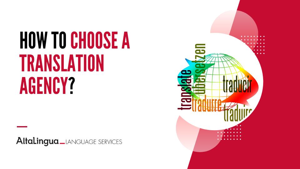 How to choose a translation agency?
