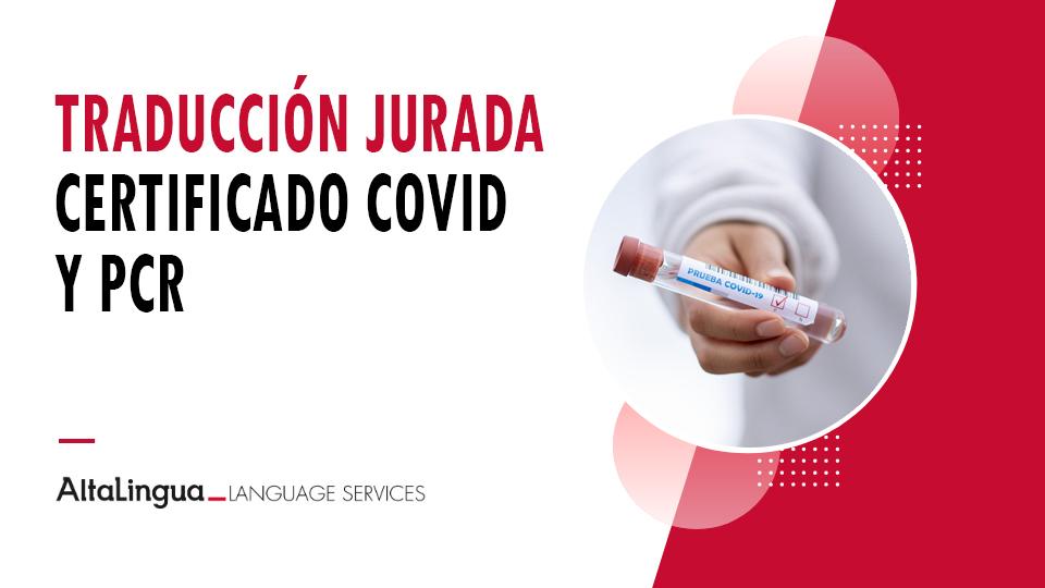 Traducción certificado COVID